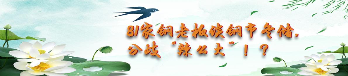 """81家钢老板谈钢市冬储,分歧""""辣么大""""!?"""