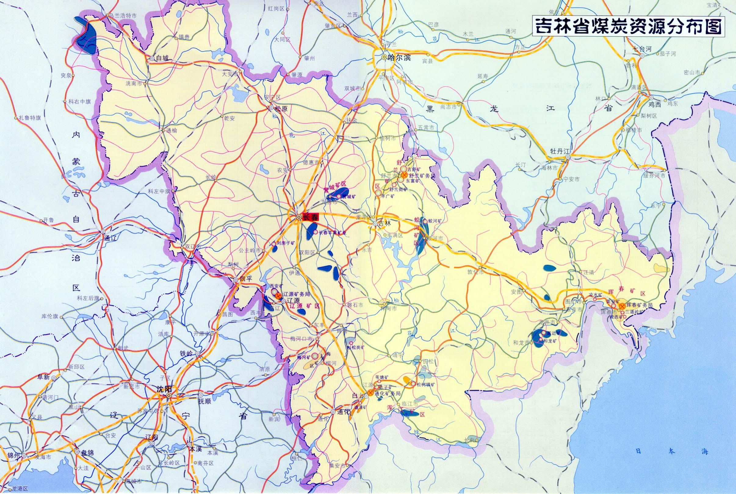 吉林省榆树市城市地图