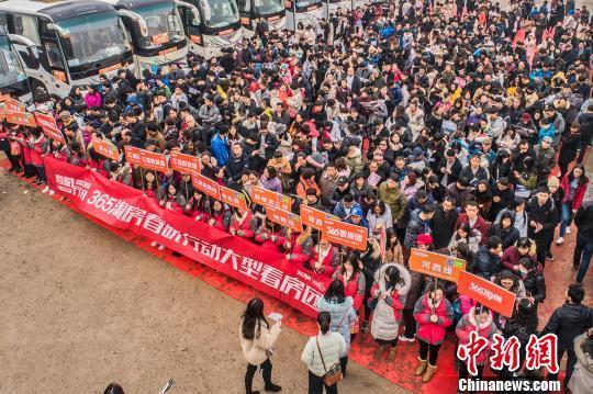 2019年2月23日,南京某看房團。劉智偉 攝